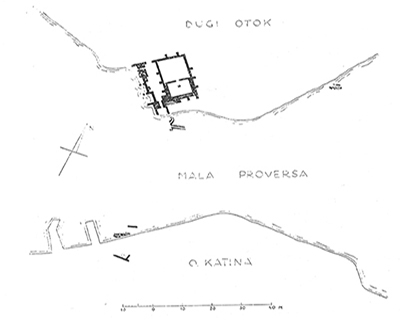 Sl.1 položaj i nacrt rimske vile