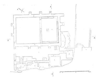 sl.2. Tlocrt istraženog dijela rimske vile