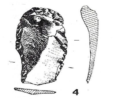 sl.5. Kremeni predmet iz kasnog paleolitika(kultura gravettien), lokacija Krševanje polje