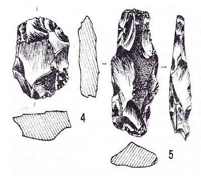 sl.6.Kremeni predmeti iz mezolitika, s lokacije Krševanje i Dugo polje