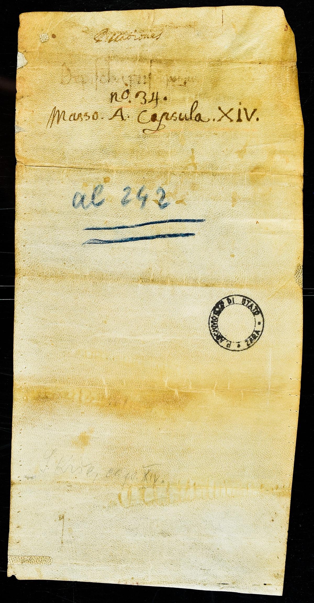 pergamena br 2 dokument o prvom spomenu ribarstva u Hrvata iz 995. godine. v