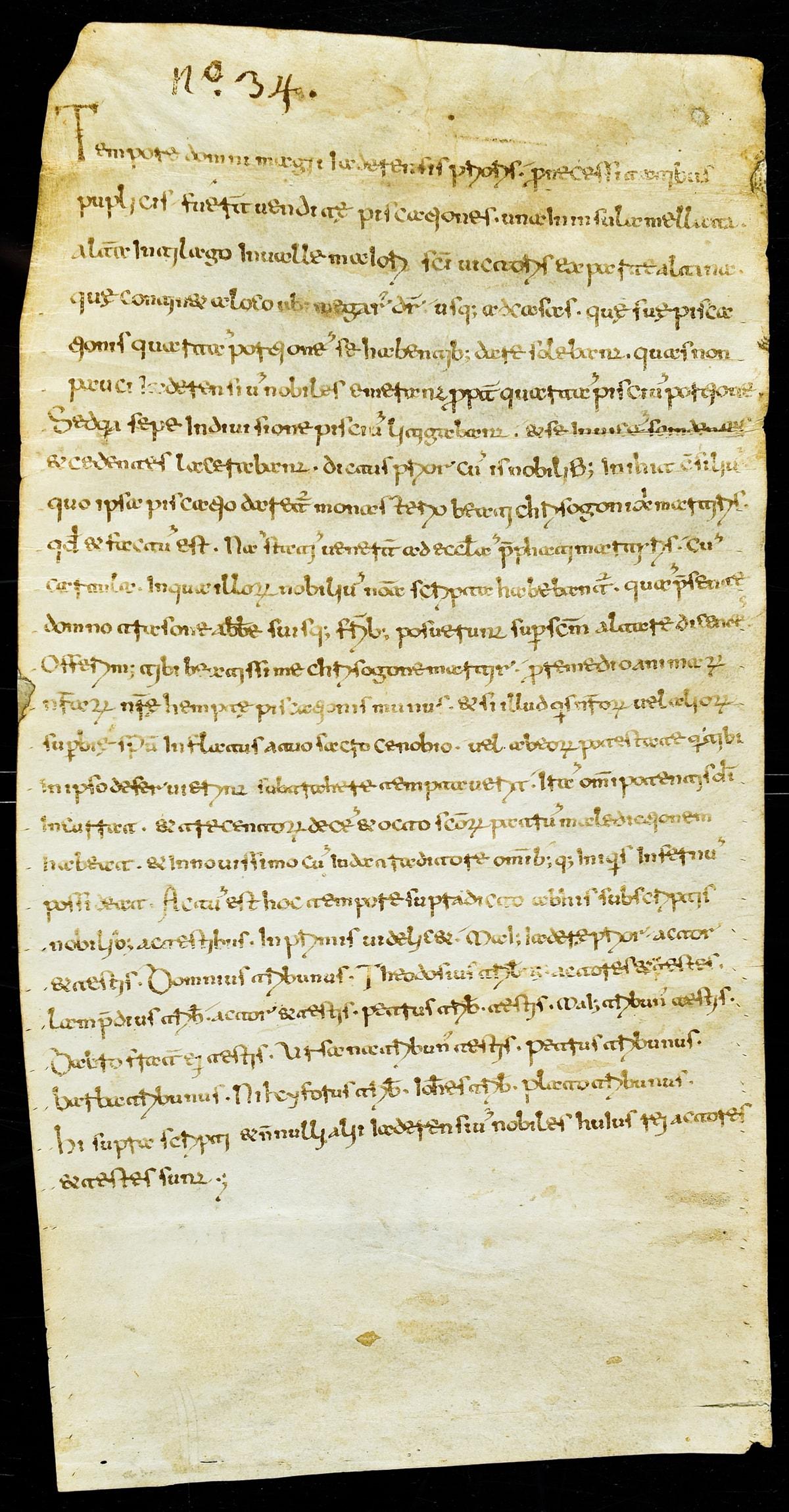 pergamena br 2 dokument o prvom spomenu ribarstva u Hrvata iz 995. godine.